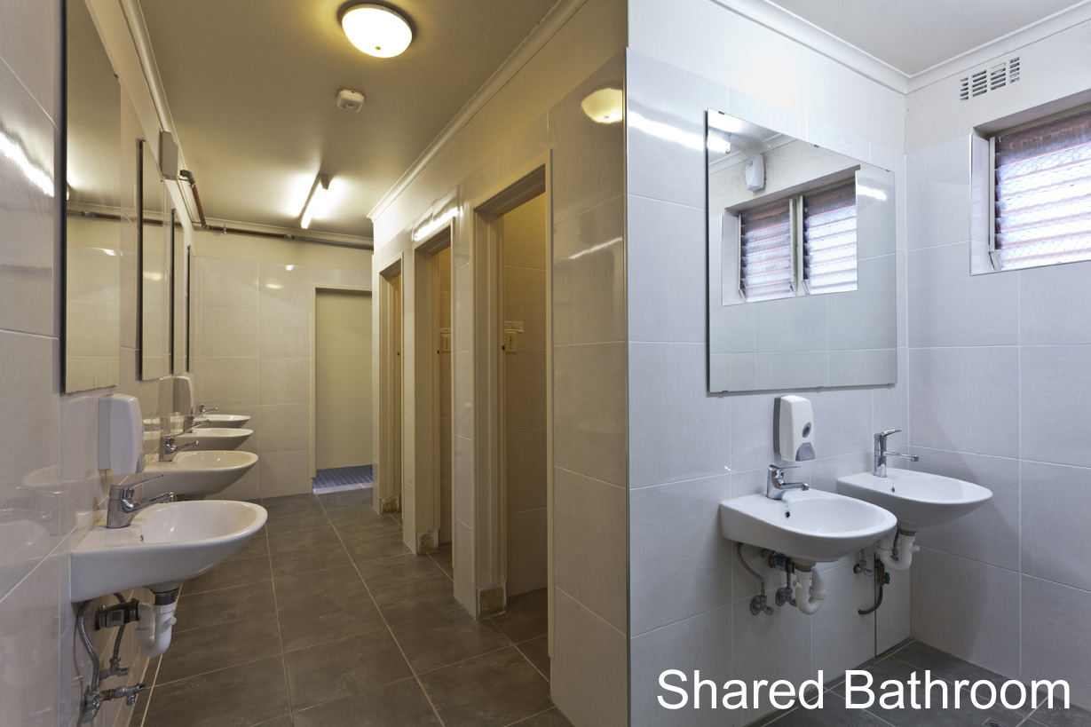 Shared Bathroom Facilities used for Double, Family & Twin Rooms - click to see an enlarged version of this image