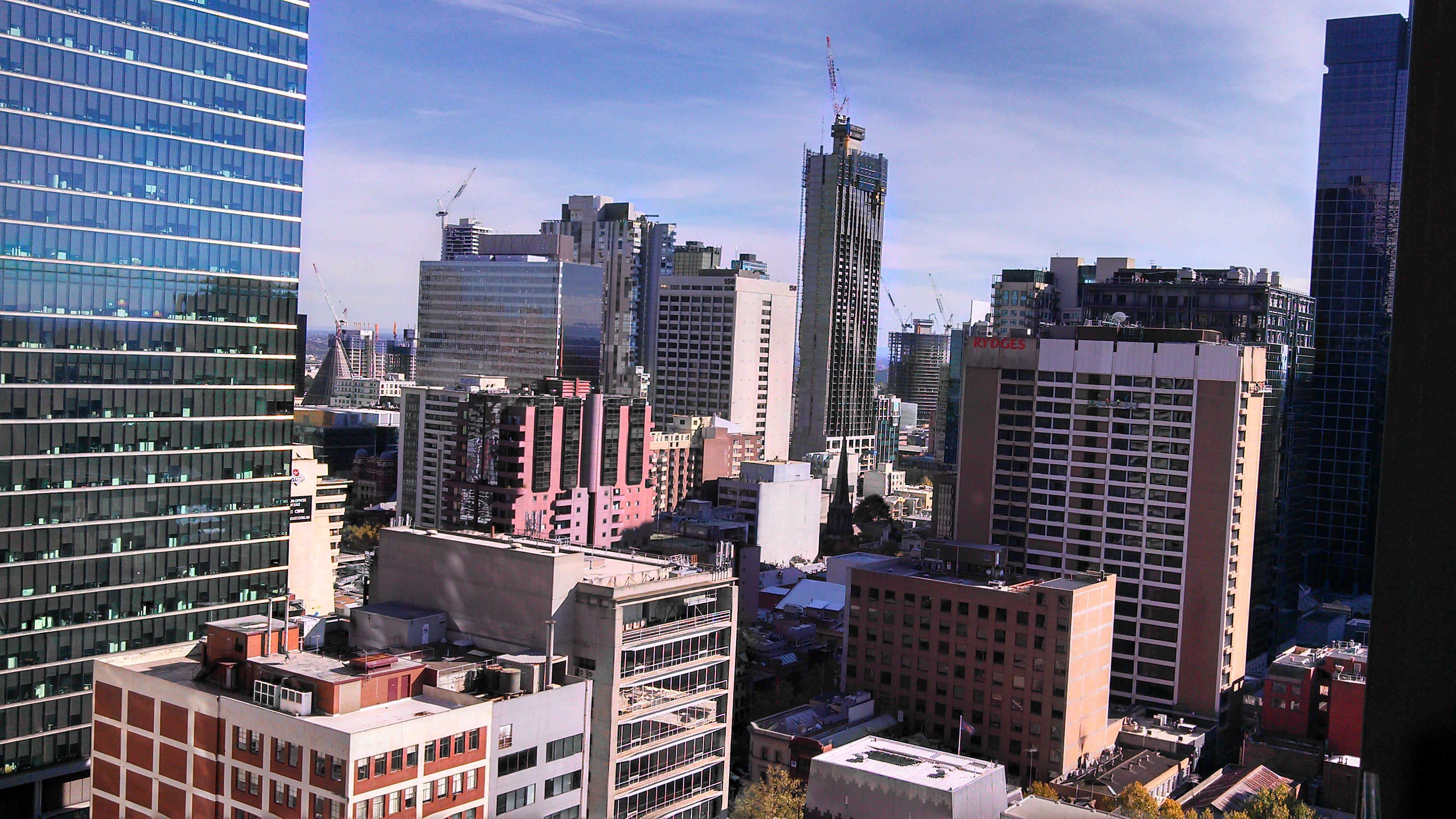 Sheraton Hotel Melbourne views - click to see an enlarged version of this image