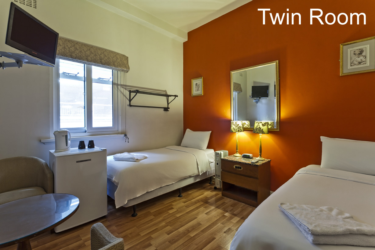 City Centre Budget Hotel, Single or Twin Room - for 1-2 people - click to see an enlarged version of this image